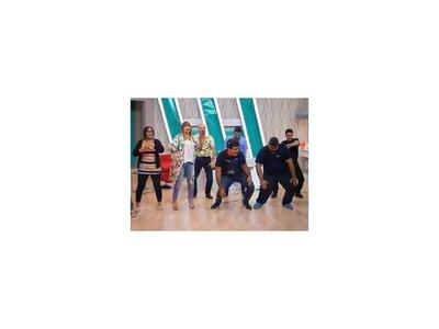 Pelusa Rubín Se animó a bailar con su gran equipo