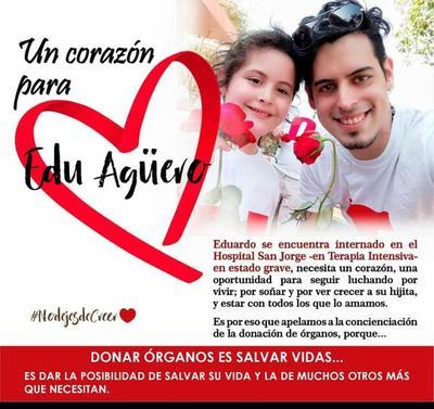 Un corazón para Edu Agüero