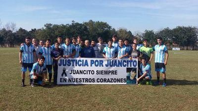 Jugadores del Hércules Club pidieron justicia para Juancito