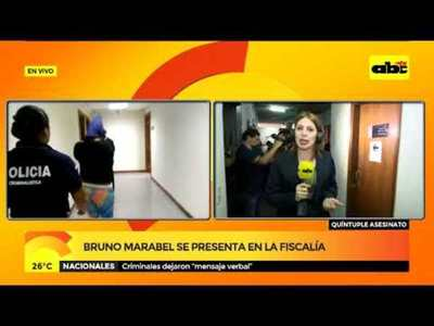 Bruno Marabel se presenta en la fiscalía