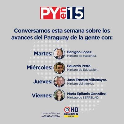 Paraguay TV estrenó programa de entrevistas a protagonistas del Gobierno