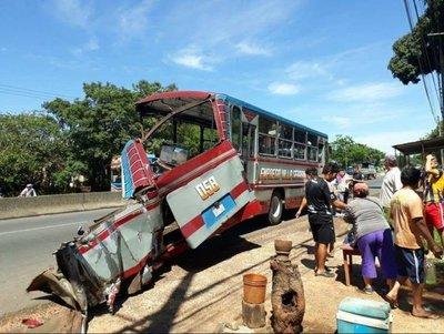 Cinco heridos en accidente de tránsito en Itauguá