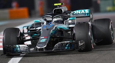 Bottas por delante de los Red Bull