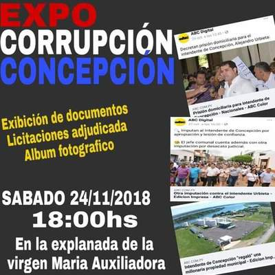 """Realizarán """"Expo Corrupción"""" en Concepción"""