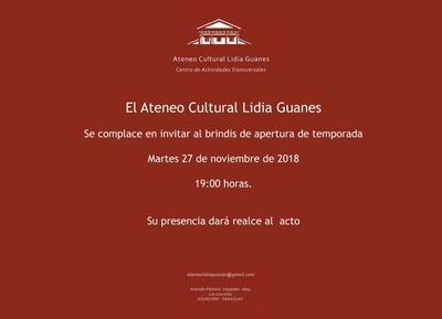 Ateneo Cultural Lidia Guanes abresus puertas como espacio gratuito este martes