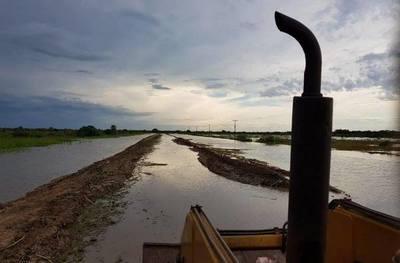 Varias comunidades alberdeñas están afectadas por inundaciones