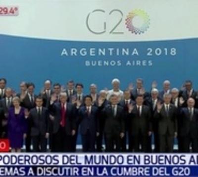 Líderes del mundo inician cargada agenda en cumbre del G20