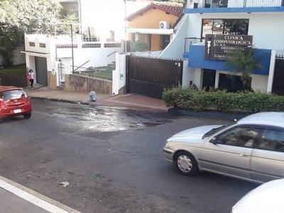Caño roto en Asunción