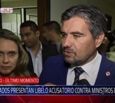 Diputados presentan libelo acusatorio contra ministros del TSJE