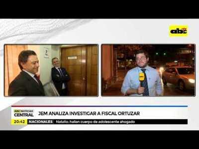 JEM analiza investigar a fiscal Ortuzar