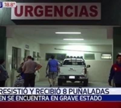 Joven fue atacado y apuñalado 8 veces por barrabravas en Luque