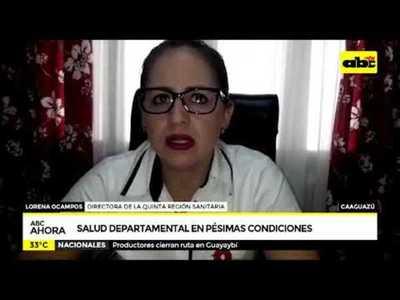 Caaguazú: Salud departamental en pésimas condiciones