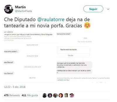 Escrachan en redes sociales a diputado colorado por acosar a una mujer