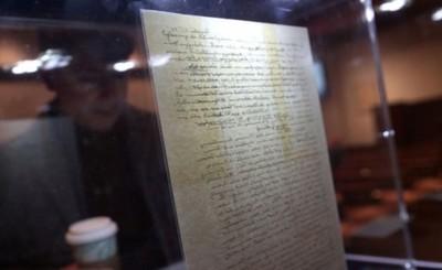 Carta de Einstein subastada en USD 2,9 millones