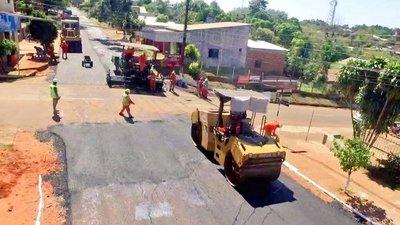 Inician obras pavimentación asfáltica en el casco urbano de J. Eulogio Estigarribia