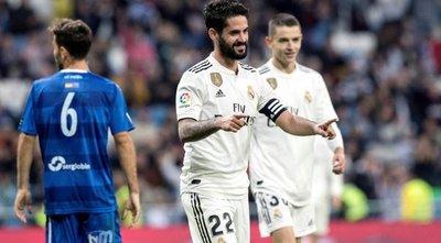 Madrid plagado de suplentes golea al Melilla