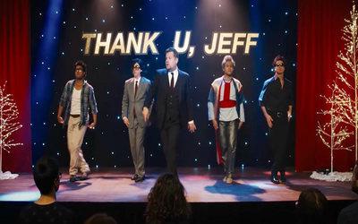 """James Corden hizo una parodia del videoclip de """"thank u, next"""", de Ariana"""