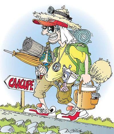 Caminante rumbo a Caacupé