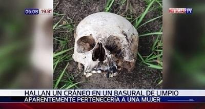 Pobladores de Limpio hallan cráneo humano en basural