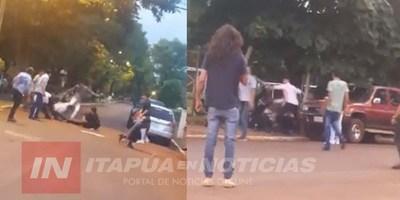 BATALLA CAMPAL EN OBLIGADO TRAS FIESTA DE COLACIÓN.