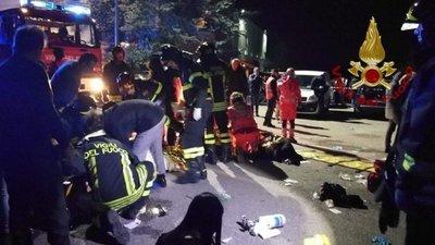 Seis muertos en Italia por un movimiento de pánico en una discoteca