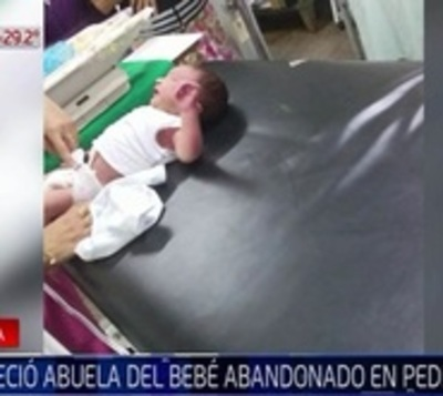 Aparece abuela de bebé abandonado en un baldío