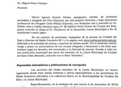 Radio Concierto recurre a la Junta ante grave  intento de atropello a la libertad de prensa