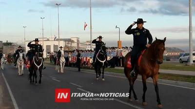 DESDE ESTE FIN DE SEMANA POLICÍA MONTADA SE INSTALA EN ITAPÚA.