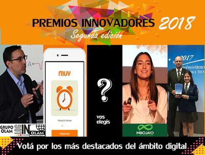 Innovadores 2018 2da edición: Votá por los más destacados del ámbito digital!