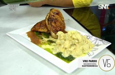 La Cocina de Cada Día: Pechugas de pollo al pesto con coliflor a la crema