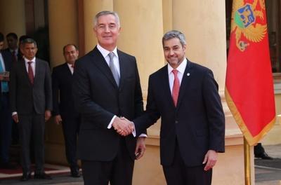 Mario Abdo se reúne con su homólogo de Montenegro