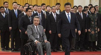 China otorga desembolsos por 999,3 millones de dólares a Ecuador en gira de presidente Moreno