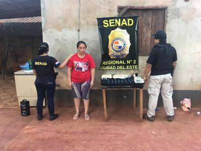 Detienen a mujer que comercializaba drogas en Alto Paraná