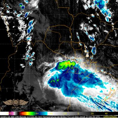 Alerta por tormentas para nueve departamentos