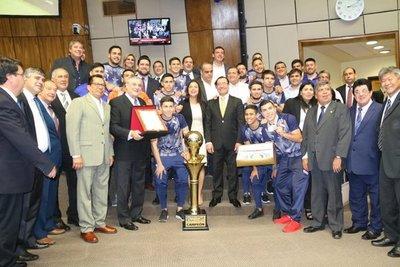 Reconocimiento del Congreso para selección Sub 20 campeona de futsal