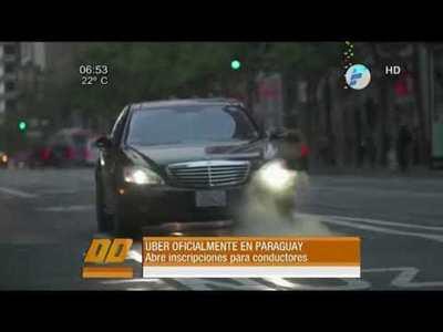 Uber oficialmente en Paraguay