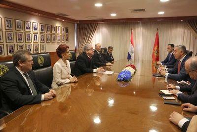 Ministros reciben a presidente de Montenegro