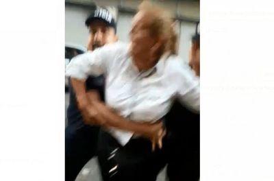 Salvaje arresto tras protesta