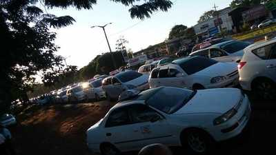 Manifestación genera caos vehicular
