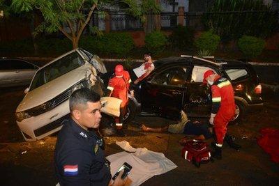 Montan accidente de tránsito para concienciar sobre consumo de alcohol