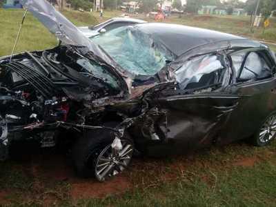 Reportan daños materiales en accidente de tránsito – Prensa 5