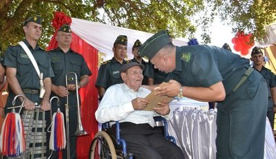 Héroe del Chaco festeja sus 102 años en Nueva Italia