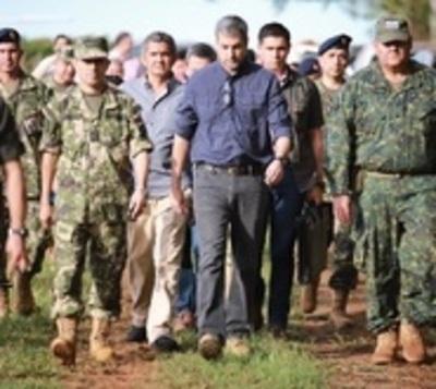 Presidente visita zona del último ataque del EPP en San Pedro