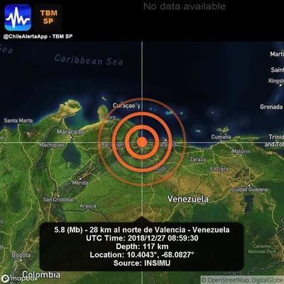 Al menos cinco réplicas del temblor se han sentido en Caracas en la última hora