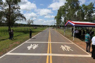 Cordillera cuenta con más de 50 km de nuevos tramos asfaltados