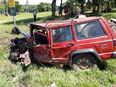 Accidente rutero en Caacupé se cobra la vida de un hombre