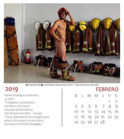Bomberos se mostraron onda 'Bombonazo' en calendario de ¡protesta!