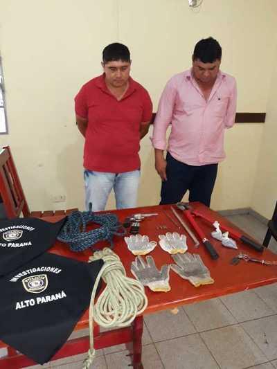 """Atrapan a miembros de la banda de Roque """"Py guasu"""" por el robo de agroquímicos"""