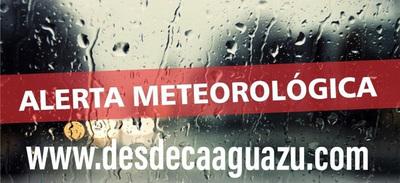 Alerta por lluvias y tormentas en la Región Oriental