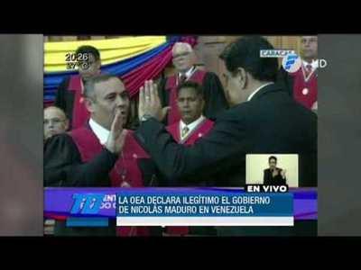 OEA declara ilegítimo el gobierno de Maduro en Venezuela